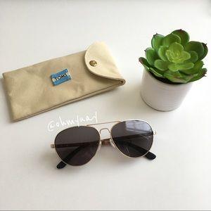 TOMS Maverick Aviator Sunglasses - Gold Dusty Rose